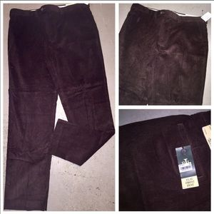 NWT RALPH LAUREN DRK BROWN CORDUROY PANTS SZ